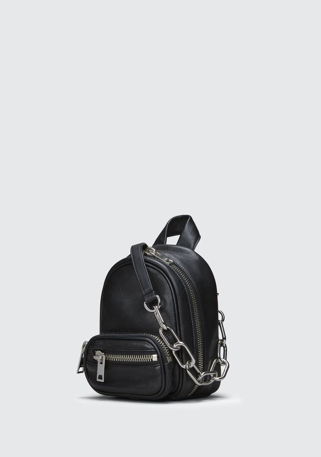 ALEXANDER WANG ATTICA SOFT MINI BACKPACK IN BLACK WITH RHODIUM Borse a spalla Adult 12_n_e