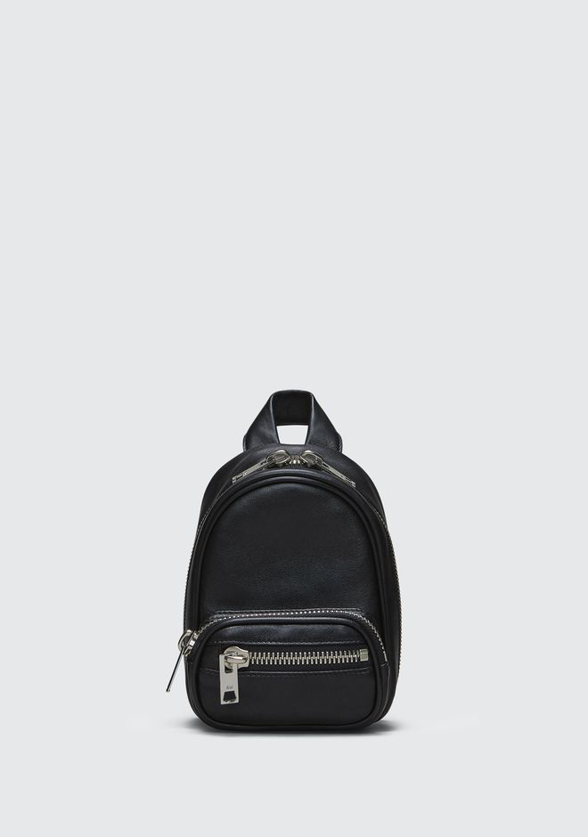 ALEXANDER WANG ATTICA SOFT MINI BACKPACK IN BLACK WITH RHODIUM Borse a spalla Adult 12_n_f