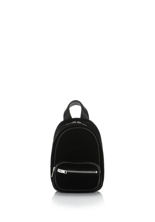 ALEXANDER WANG Sacs porté épaule ATTICA SOFT MINI BACKPACK IN SILKY VELVET WITH RHODIUM