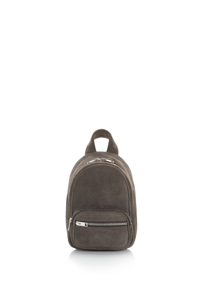 ALEXANDER WANG Schultertaschen ATTICA SOFT MINI BACKPACK IN SUEDE MINK WITH RHODIUM