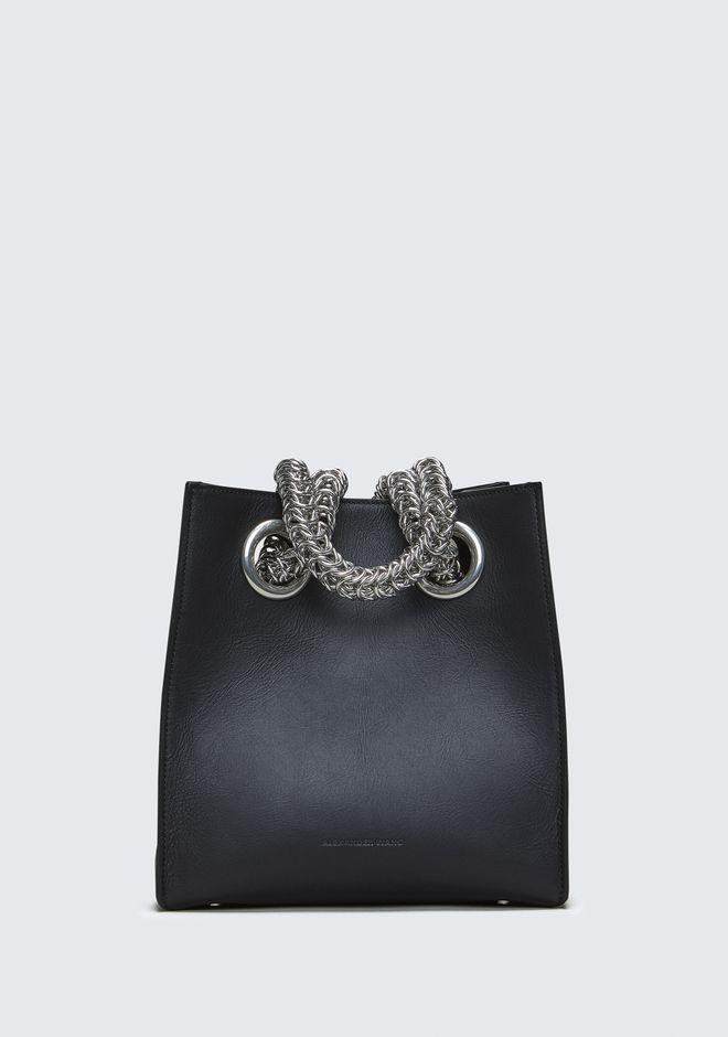 ALEXANDER WANG new-arrivals-bags-woman GENESIS SHOPPER IN BLACK WITH BOX CHAIN