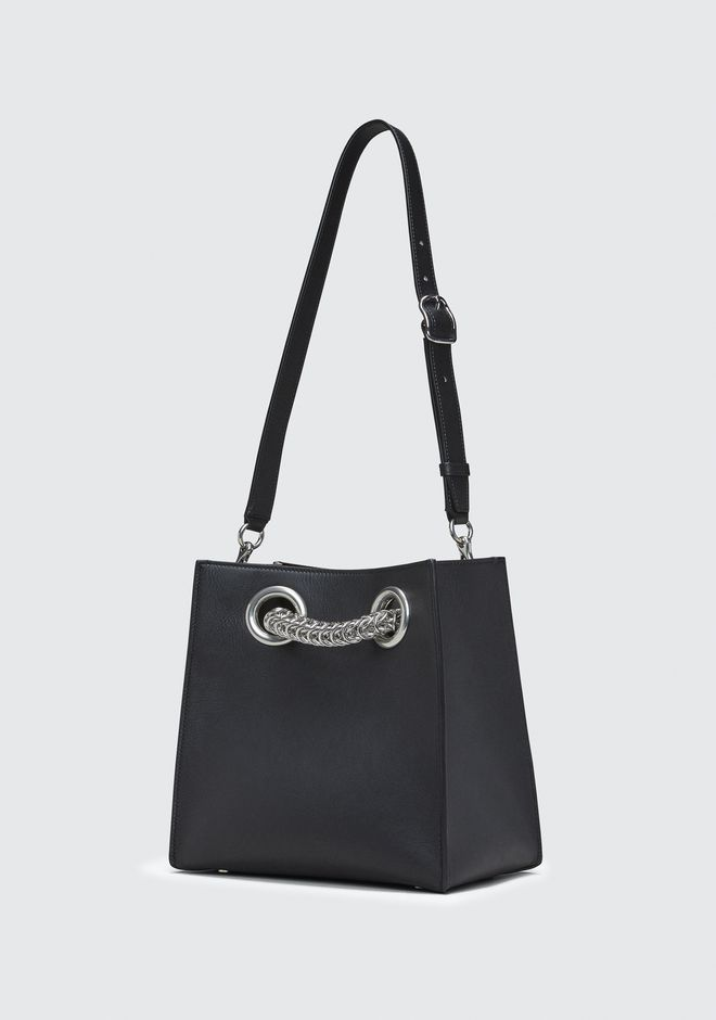 ALEXANDER WANG GENESIS SHOPPER IN BLACK WITH BOX CHAIN Borse a spalla Adult 12_n_a