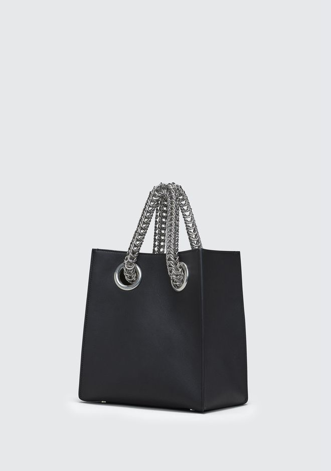 ALEXANDER WANG GENESIS SHOPPER IN BLACK WITH BOX CHAIN Borse a spalla Adult 12_n_e