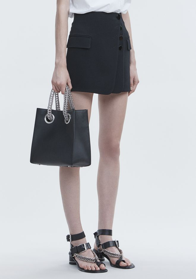 ALEXANDER WANG GENESIS SHOPPER IN BLACK WITH BOX CHAIN Borse a spalla Adult 12_n_r