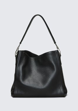 DARCY HOBO IN PEBBLED BLACK WITH RHODIUM