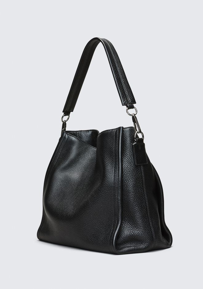 ALEXANDER WANG DARCY HOBO IN PEBBLED BLACK WITH RHODIUM ショルダーバッグ Adult 12_n_d