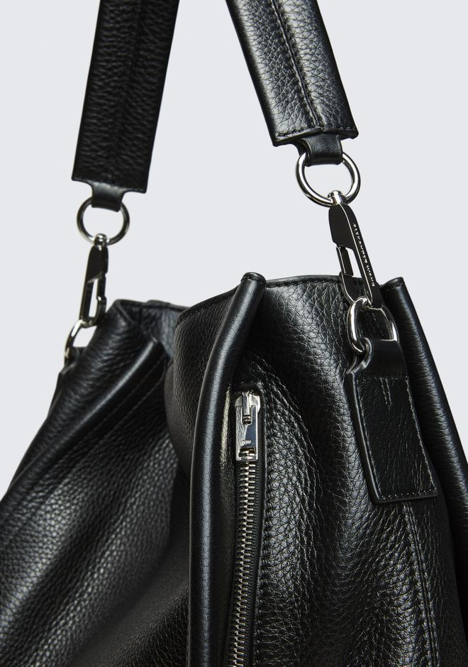 ALEXANDER WANG DARCY HOBO IN PEBBLED BLACK WITH RHODIUM ショルダーバッグ Adult 12_n_e
