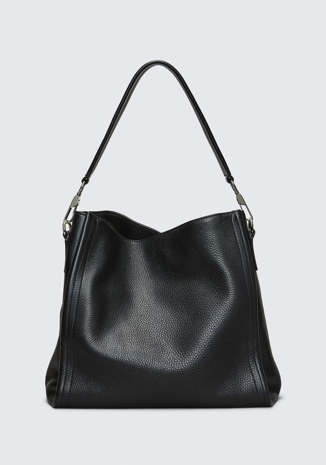 ALEXANDER WANG DARCY HOBO IN PEBBLED BLACK WITH RHODIUM ショルダーバッグ Adult 12_n_f