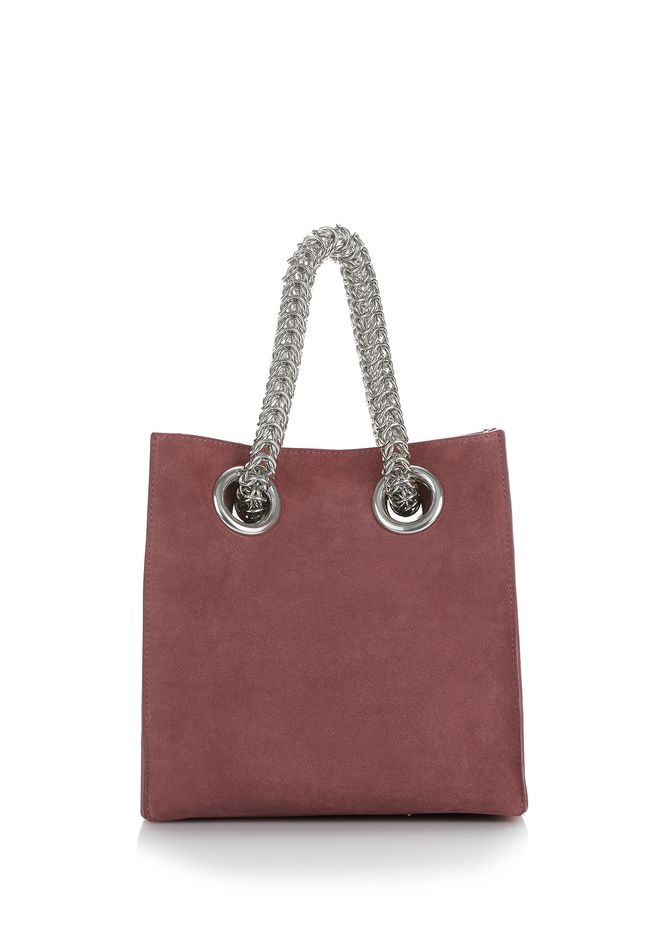 ALEXANDER WANG TOTES Women GENESIS SHOPPER IN MAUVE WITH BOX CHAIN