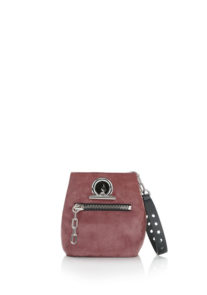ALEXANDER WANG Shoulder bags Women RIOT CROSSBODY BAG IN MAUVE WITH RHODIUM
