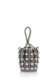 ALEXANDER WANG DOME STUD ROXY MINI BUCKET BAG IN SUEDE MINK  CLUTCH Adult 8_n_f
