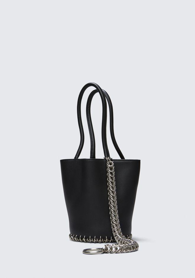 ALEXANDER WANG ROXY MINI BUCKET BAG IN BLACK WITH BOX CHAIN  POCHETTE Adult 12_n_a