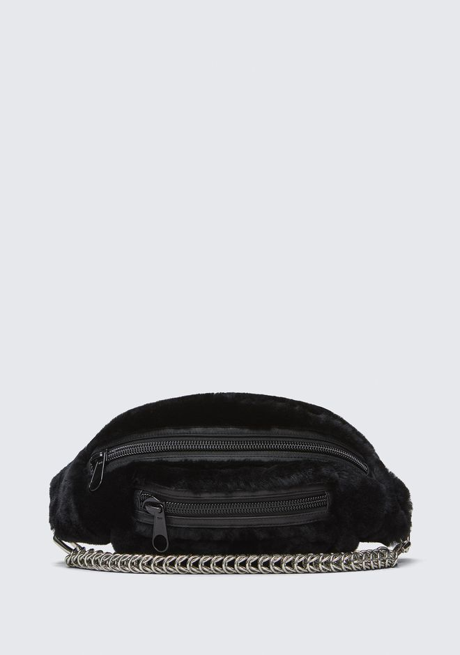 ALEXANDER WANG Shoulder bags Women SHEARLING PRIMARY FANNY PACK WITH BOXCHAIN STRAP