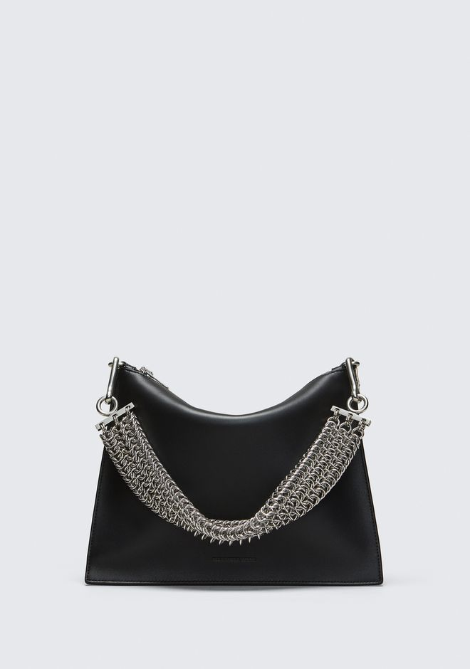 ALEXANDER WANG genesis GENESIS POUCH IN BLACK WITH BOX CHAIN