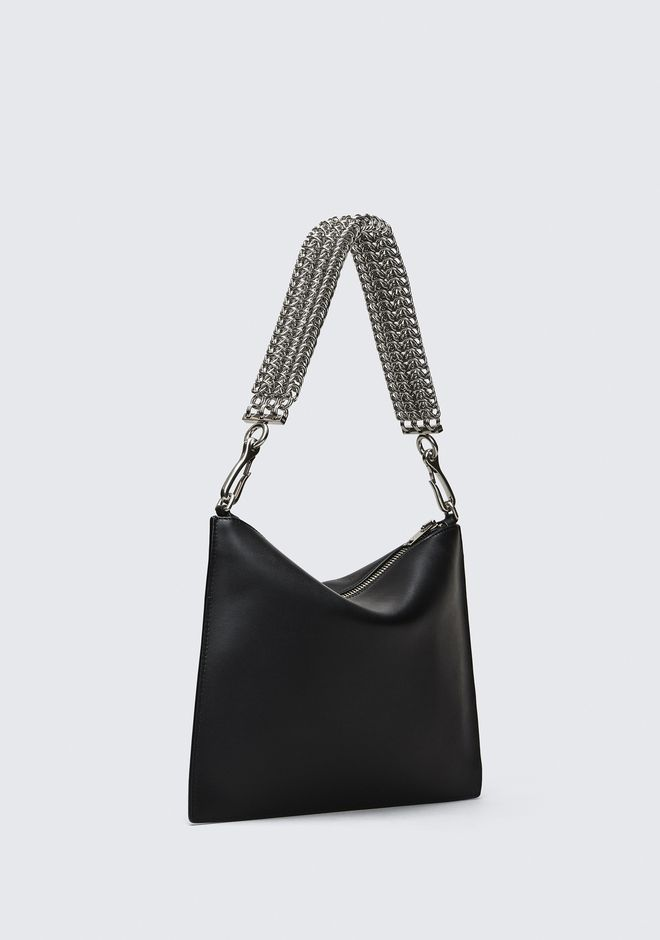 ALEXANDER WANG GENESIS POUCH IN BLACK WITH BOX CHAIN CLUTCH Adult 12_n_e