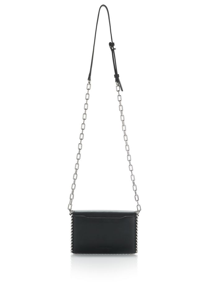 ALEXANDER WANG ATTICA BIKER PURSE IN BLACK WITH BOX CHAIN  CLUTCH Adult 12_n_a