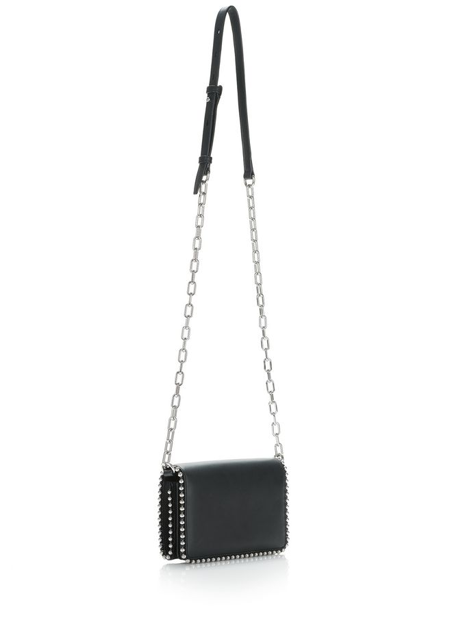 ALEXANDER WANG ATTICA BIKER PURSE IN BLACK WITH BOX CHAIN  CLUTCH Adult 12_n_e