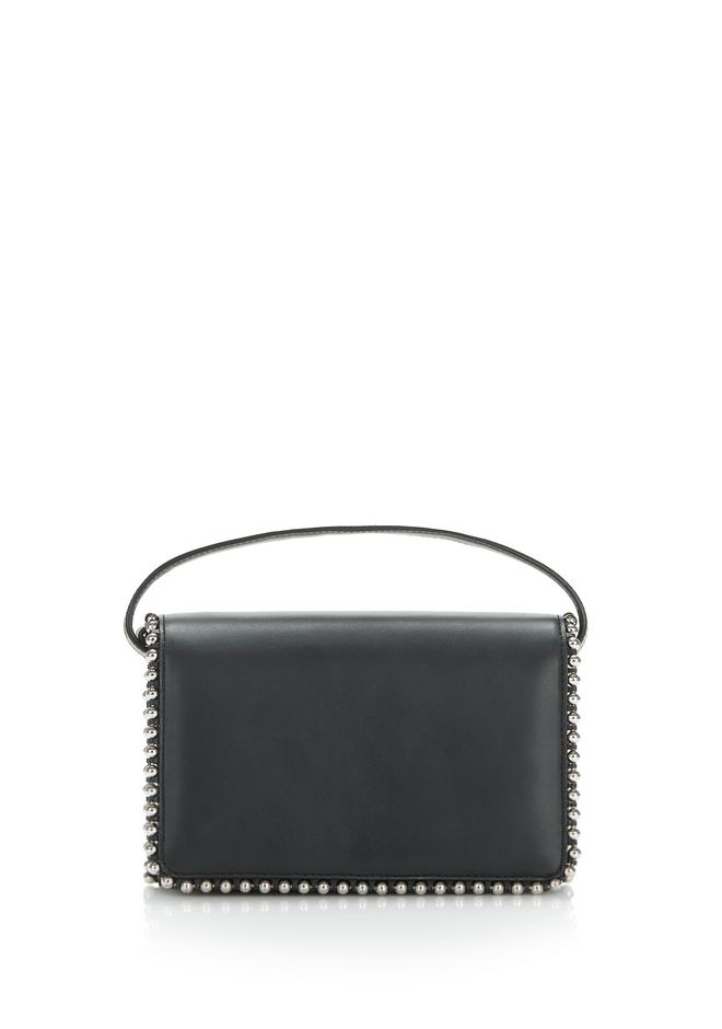 ALEXANDER WANG ATTICA BIKER PURSE IN BLACK WITH BOX CHAIN  CLUTCH Adult 12_n_f