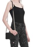ALEXANDER WANG ATTICA BIKER PURSE IN BLACK WITH BOX CHAIN  CLUTCH Adult 8_n_r