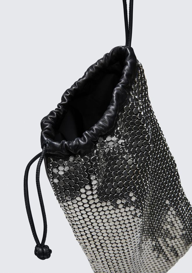 ALEXANDER WANG RYAN DUST BAG IN SILVER STUD RHINESTONE POCHETTE Adult 12_n_d