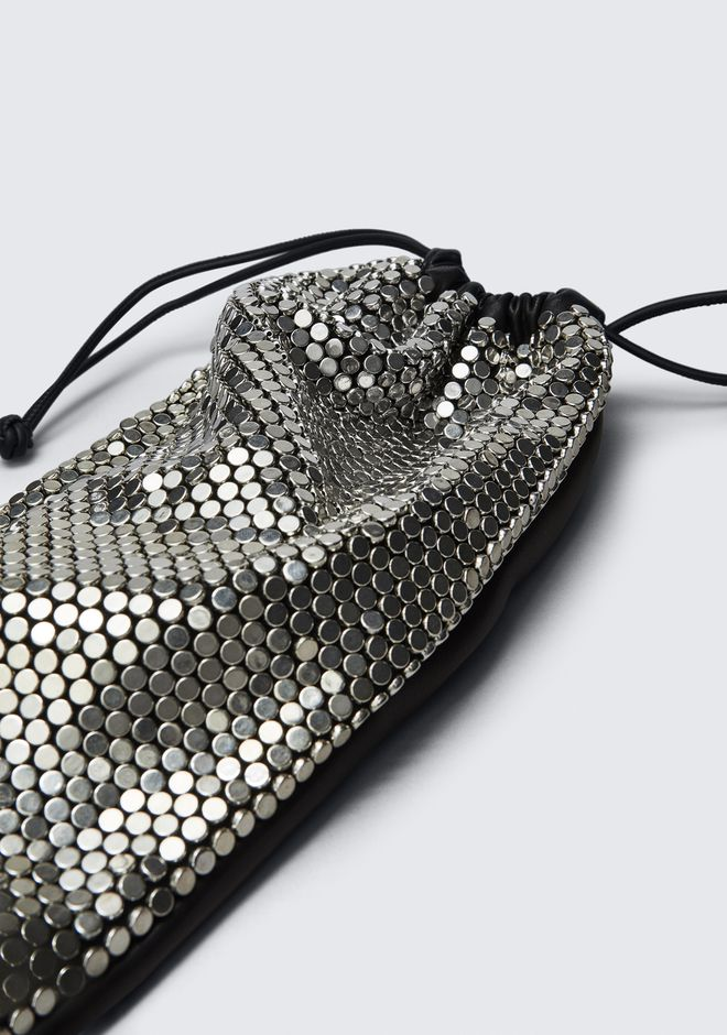 ALEXANDER WANG RYAN DUST BAG IN SILVER STUD RHINESTONE クラッチ Adult 12_n_e