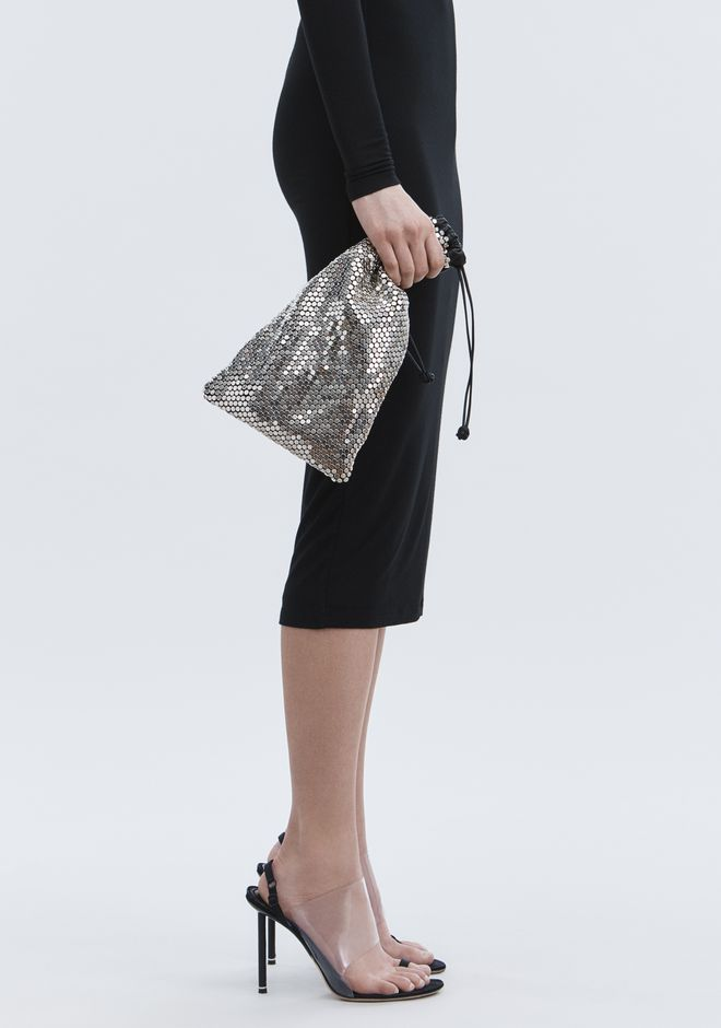 ALEXANDER WANG RYAN DUST BAG IN SILVER STUD RHINESTONE POCHETTE Adult 12_n_r