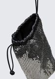 ALEXANDER WANG RYAN DUST BAG IN SILVER STUD RHINESTONE POCHETTE Adult 8_n_d