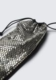 ALEXANDER WANG RYAN DUST BAG IN SILVER STUD RHINESTONE POCHETTE Adult 8_n_e