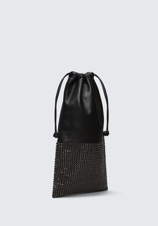 ALEXANDER WANG RYAN DUSTBAG IN BLACK RHINESTONE CLUTCH Adult 12_n_a