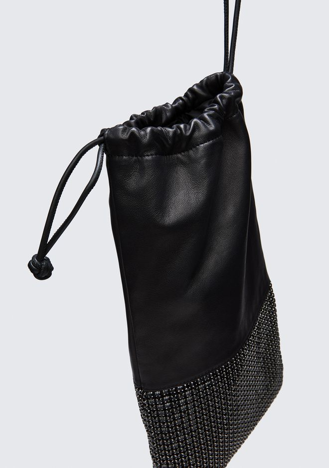 ALEXANDER WANG RYAN DUSTBAG IN BLACK RHINESTONE CLUTCH Adult 12_n_d