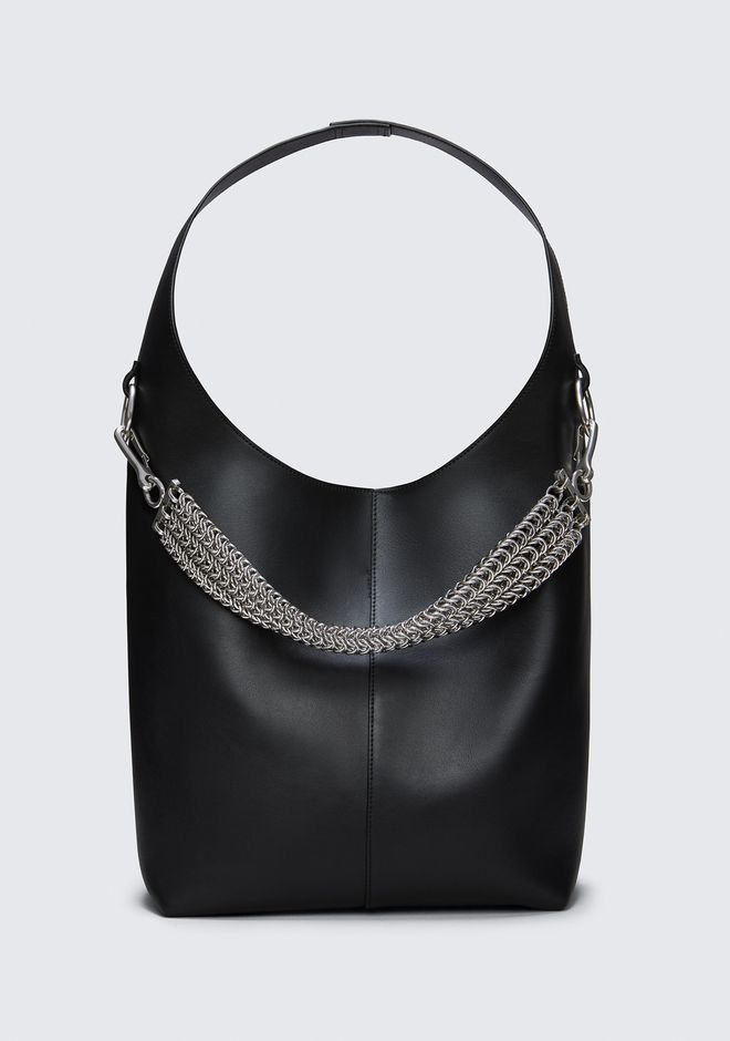ALEXANDER WANG Shoulder bags Women GENESIS HOBO IN BLACK WITH BOX CHAIN IN BLACK