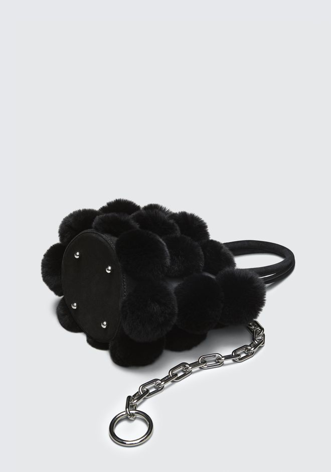 ALEXANDER WANG FUR ROXY MINI BUCKET BAG CLUTCH Adult 12_n_a