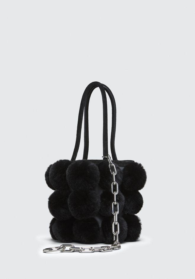 ALEXANDER WANG FUR ROXY MINI BUCKET BAG CLUTCH Adult 12_n_e
