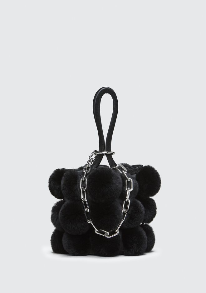 ALEXANDER WANG FUR ROXY MINI BUCKET BAG CLUTCH Adult 12_n_f