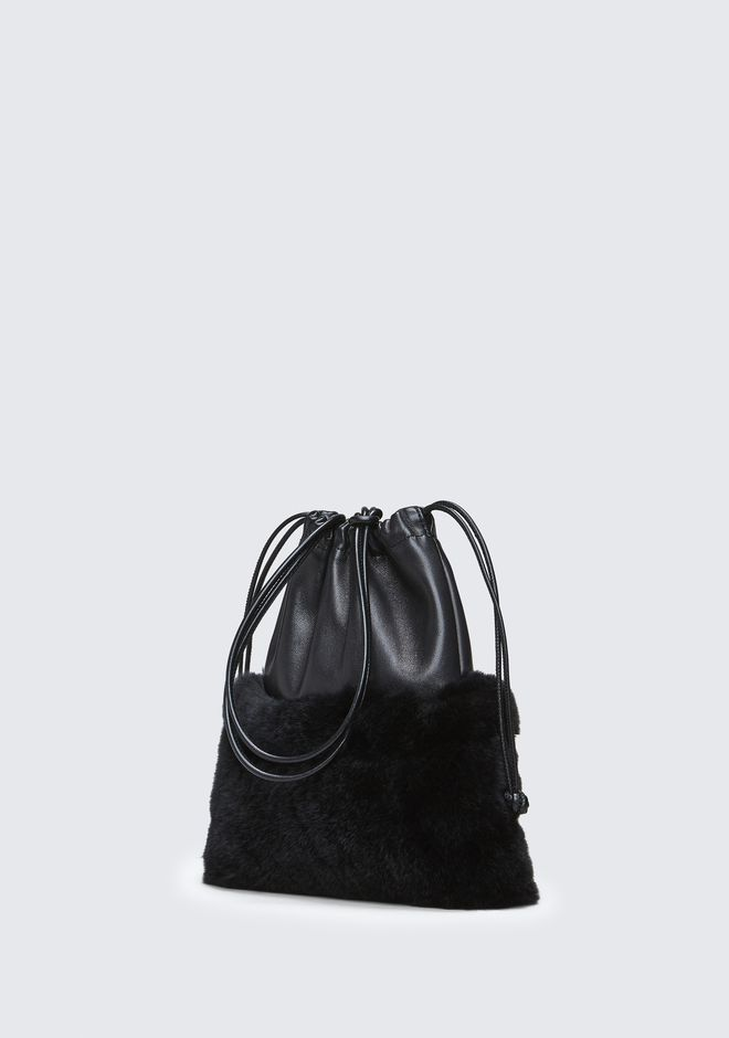 ALEXANDER WANG FUR RYAN MINI DUSTBAG  CLUTCH Adult 12_n_a