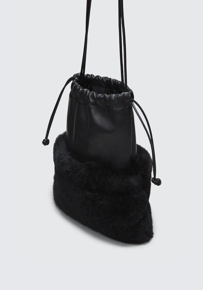 ALEXANDER WANG FUR RYAN MINI DUSTBAG  CLUTCH Adult 12_n_d