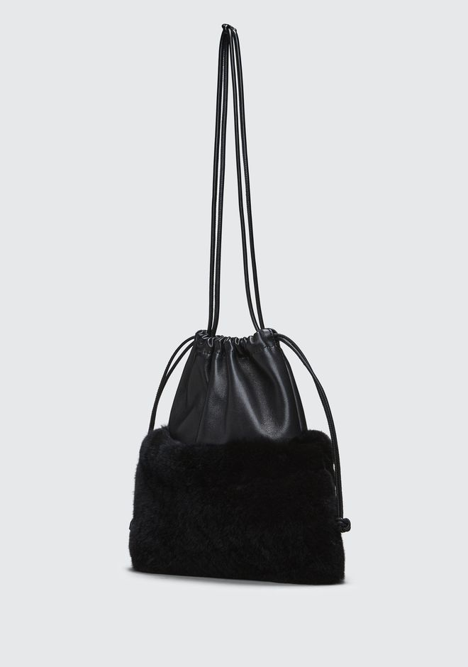 ALEXANDER WANG FUR RYAN MINI DUSTBAG  CLUTCH Adult 12_n_e