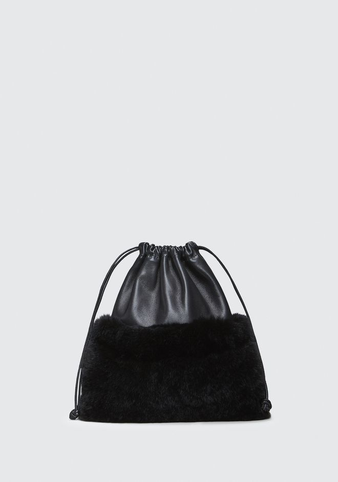 ALEXANDER WANG FUR RYAN MINI DUSTBAG  POCHETTE Adult 12_n_f