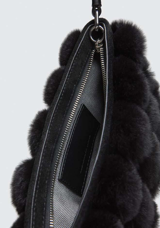ALEXANDER WANG ROXY FUR CAGE POUCH CLUTCH Adult 12_n_d