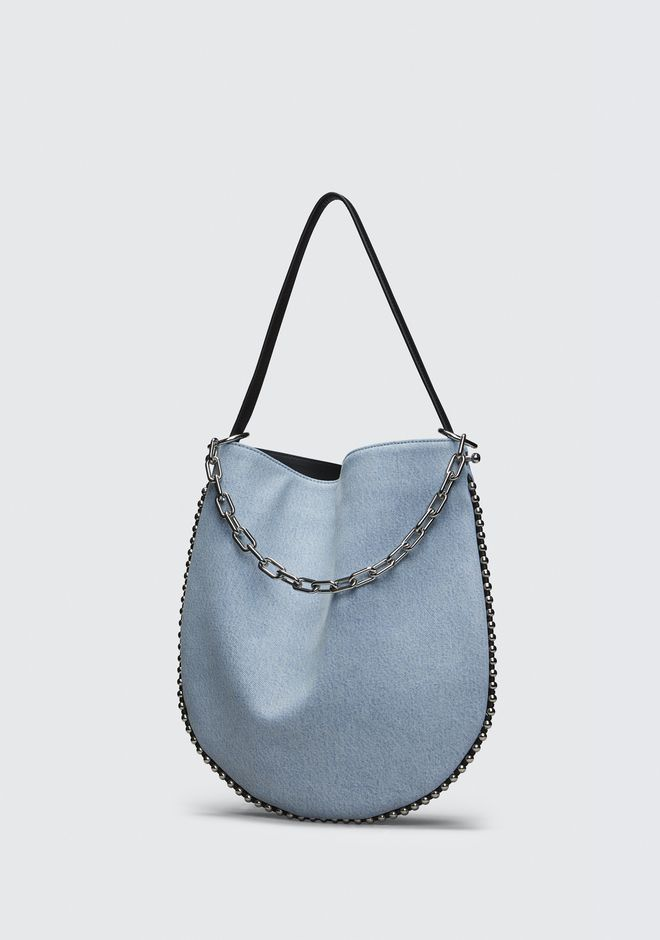 ALEXANDER WANG DENIM ROXY HOBO  Sac porté épaule Adult 12_n_e