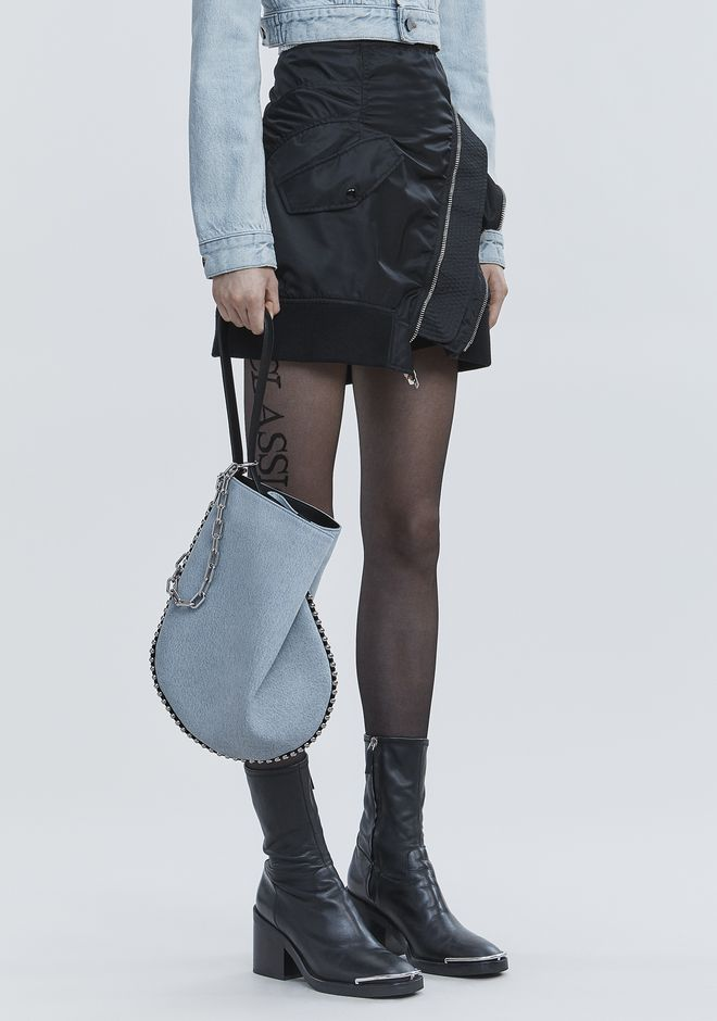 ALEXANDER WANG DENIM ROXY HOBO  单肩包 Adult 12_n_r