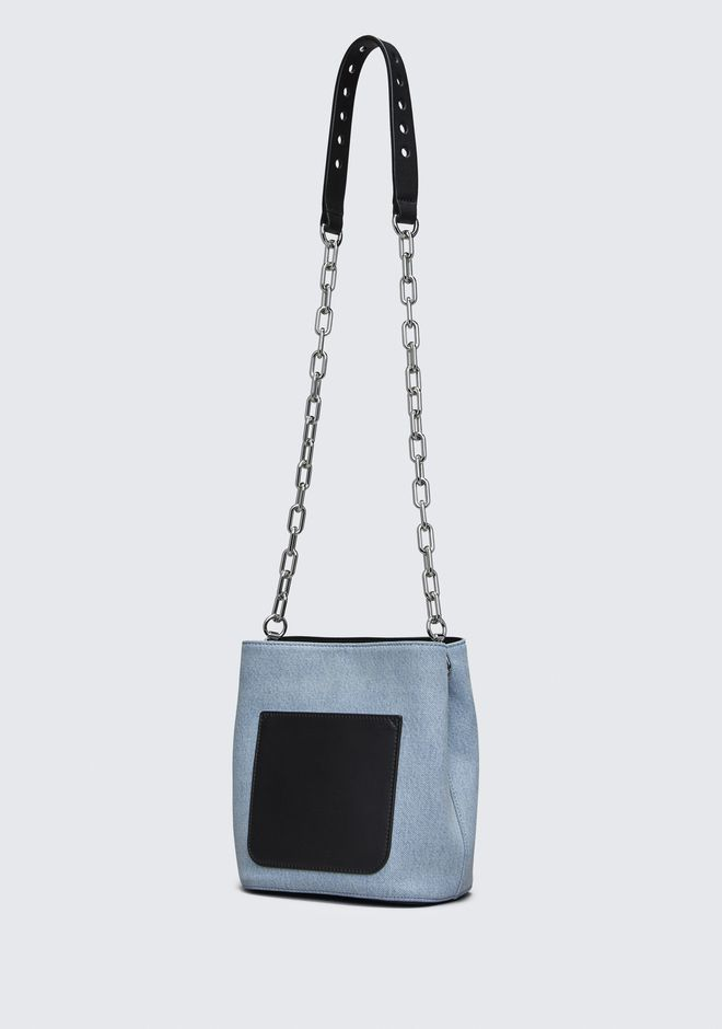 ALEXANDER WANG DENIM RIOT CROSSBODY 单肩包 Adult 12_n_d