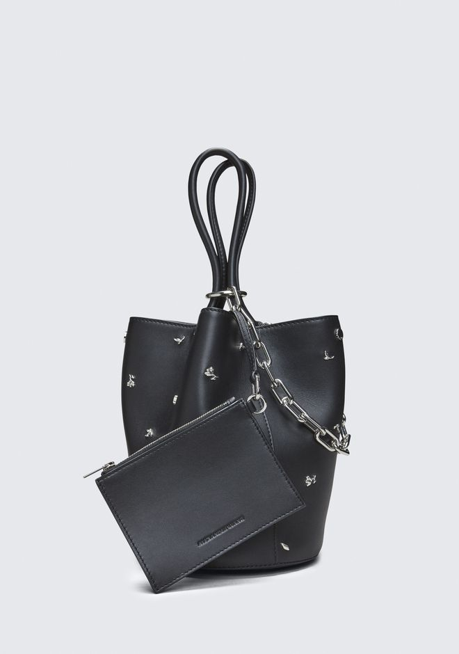 ALEXANDER WANG ROSE STUDDED ROXY BUCKET BAG 숄더 백 Adult 12_n_a