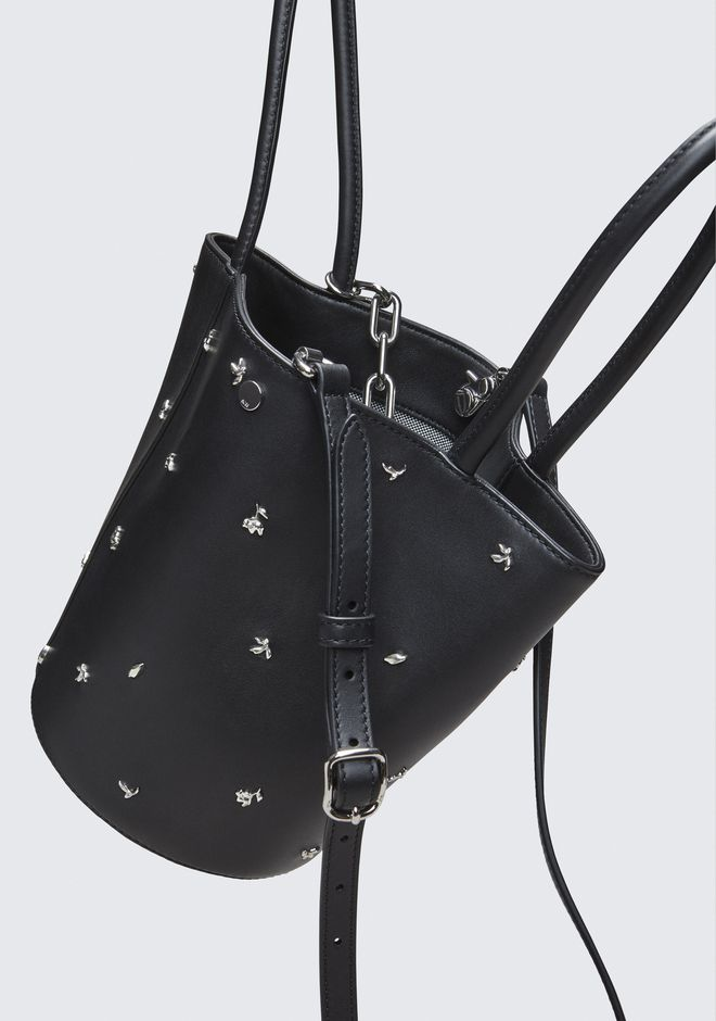 ALEXANDER WANG ROSE STUDDED ROXY BUCKET BAG CLUTCH Adult 12_n_d