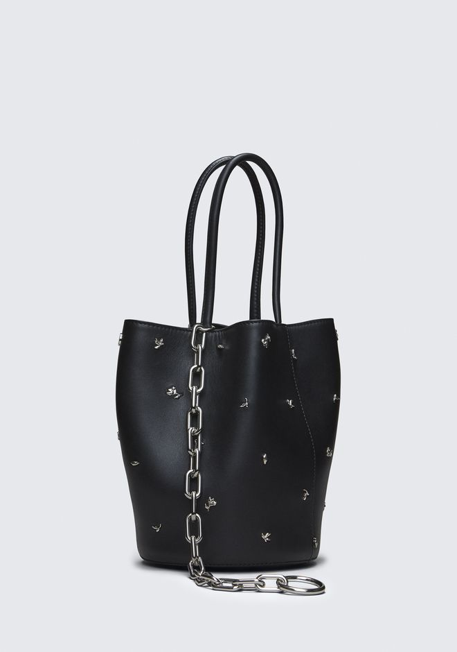 ALEXANDER WANG ROSE STUDDED ROXY BUCKET BAG Borse a spalla Adult 12_n_e