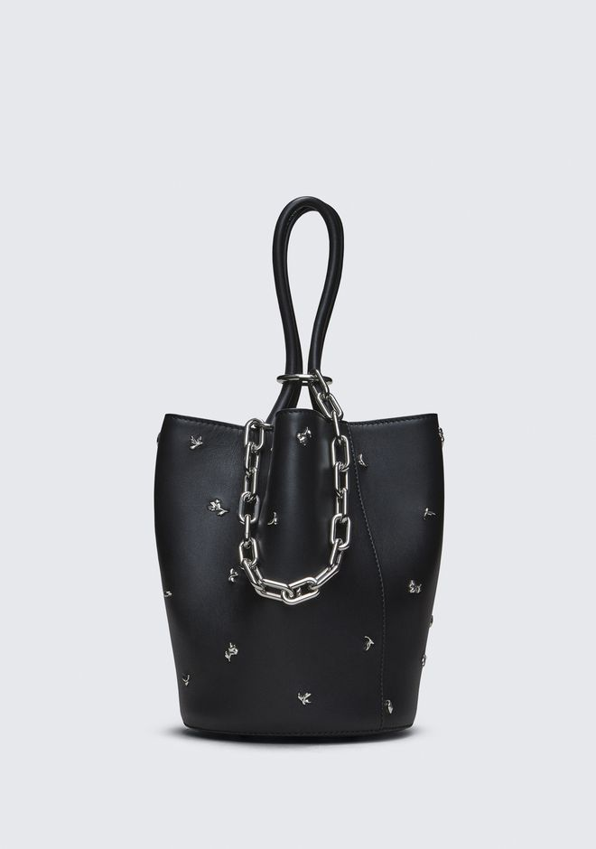 ALEXANDER WANG ROSE STUDDED ROXY BUCKET BAG CLUTCH Adult 12_n_f