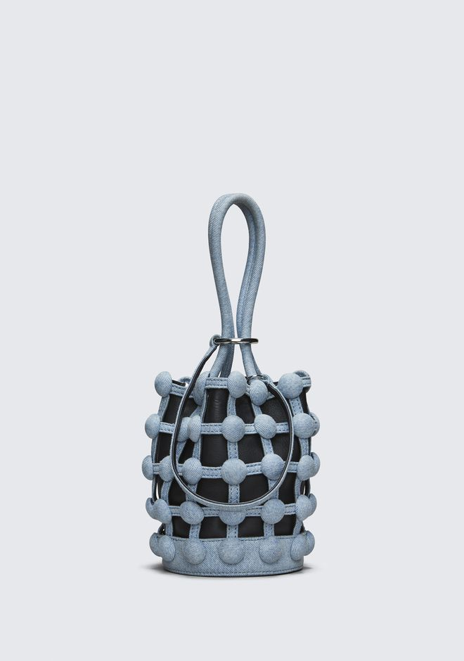 ALEXANDER WANG DENIM ROXY MINI BUCKET CLUTCH Adult 12_n_f