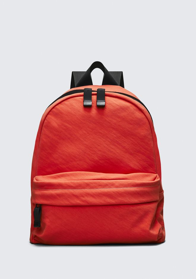 ALEXANDER WANG BACKPACKS Men ORANGE NYLON CLIVE BACKPACK