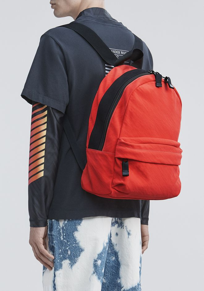 ALEXANDER WANG ORANGE NYLON CLIVE BACKPACK RUCKSACK Adult 12_n_r