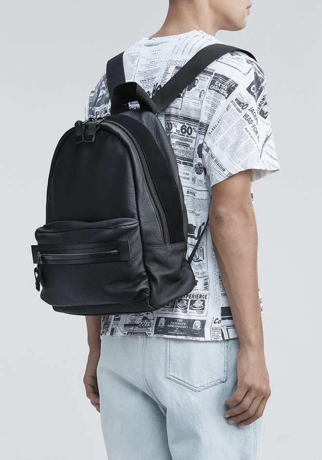 ALEXANDER WANG BLACK CLIVE BACKPACK RUCKSACK Adult 12_n_r